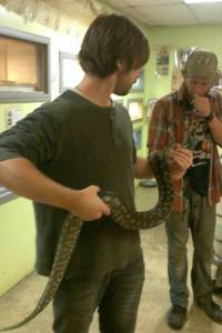 Snakes at Riverside Zoo in Missouri!