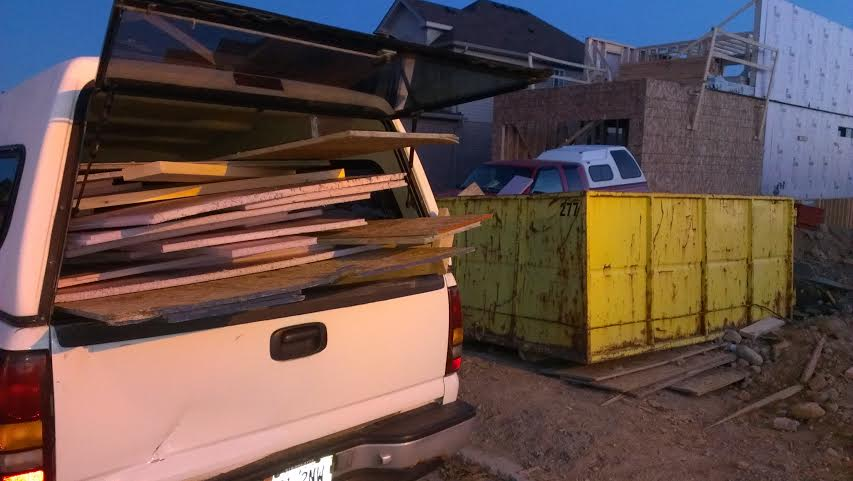 Good Haul: we made off with two truck fulls of insulation, 2x4's, 2x6's, and plywood, all otherwise headed for the landfill.